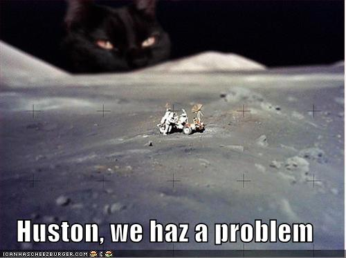 The moon landing never happened? Sorry, couldn't hear you ...  |Moon Landing Funny