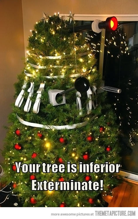 Cool Christmas Tree.Cool Christmas Tree Dalek Doctor Who With Just A Hint Of